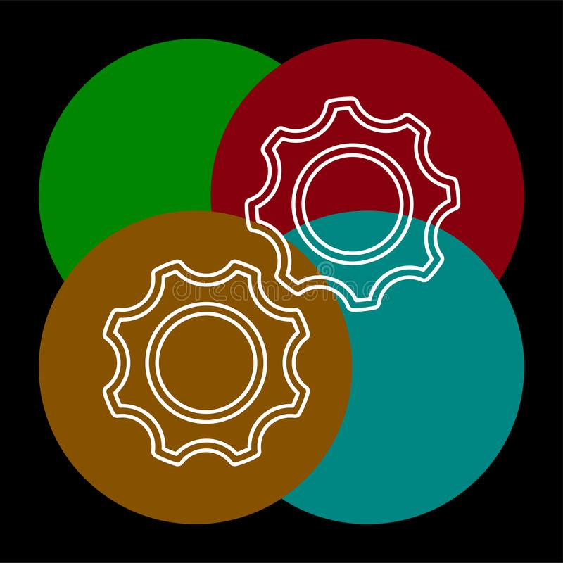 Vector gears - cogs icon - settings symbol royalty free illustration