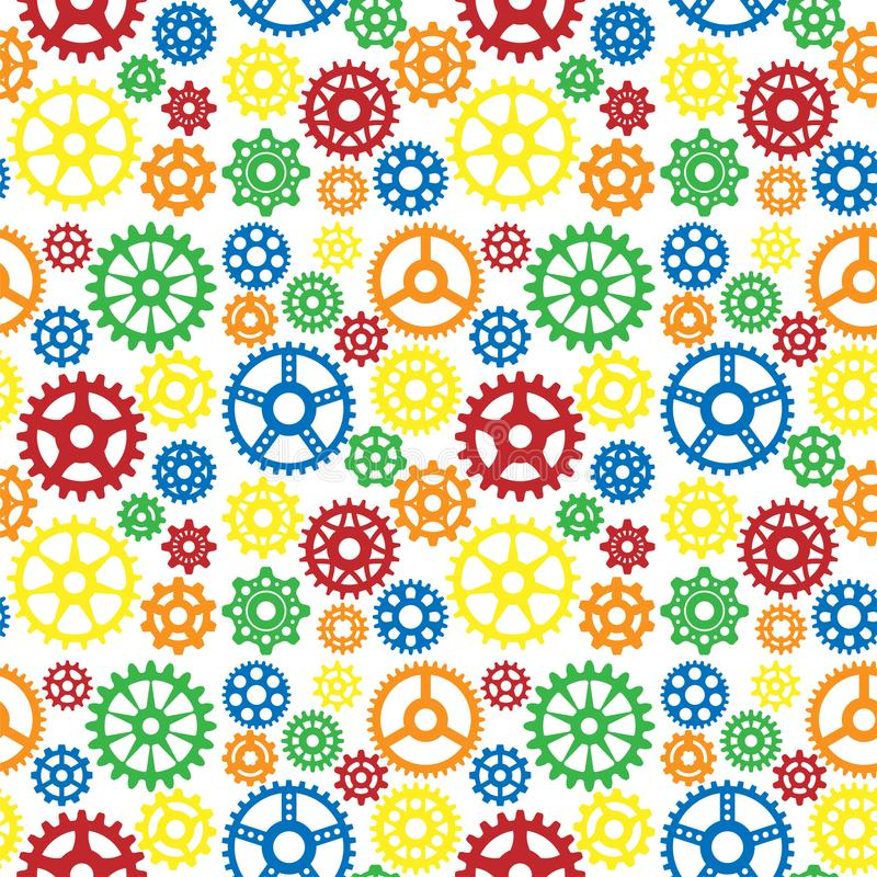 Free Vector Gears Icons Seamless Pattern Background Machine Wheel Mechanism Machinery Mechanical Technology Technical Sign. Stock Photos - 118699343