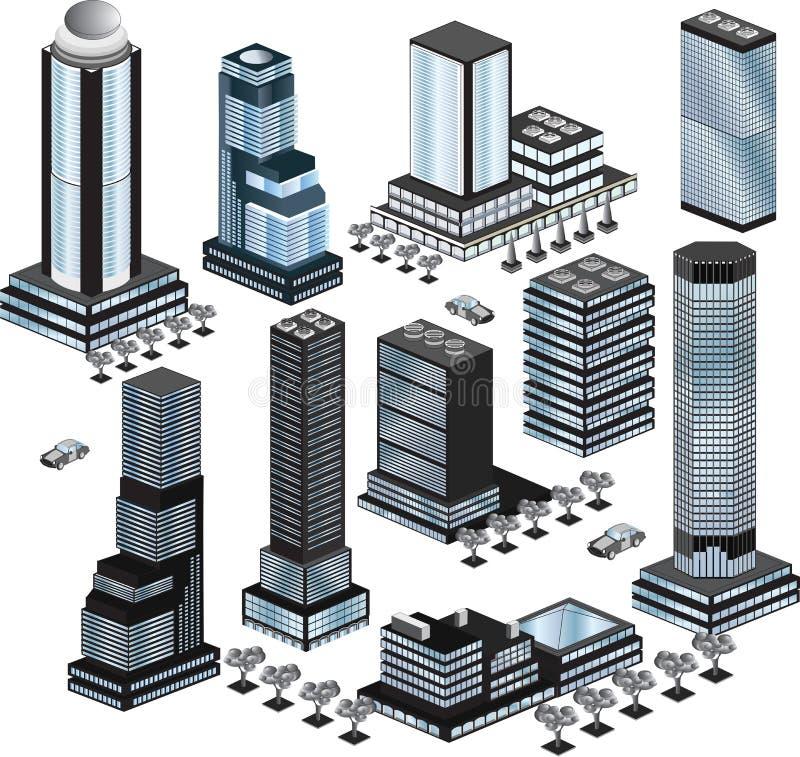 Vector gebouwen stock illustratie