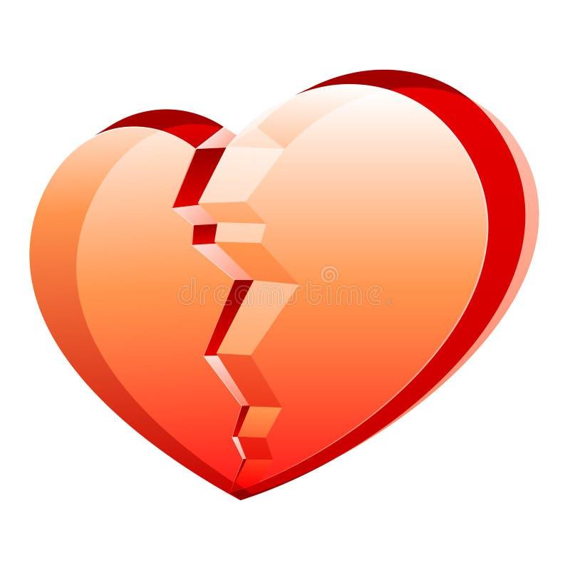 Vector gebroken hart royalty-vrije illustratie
