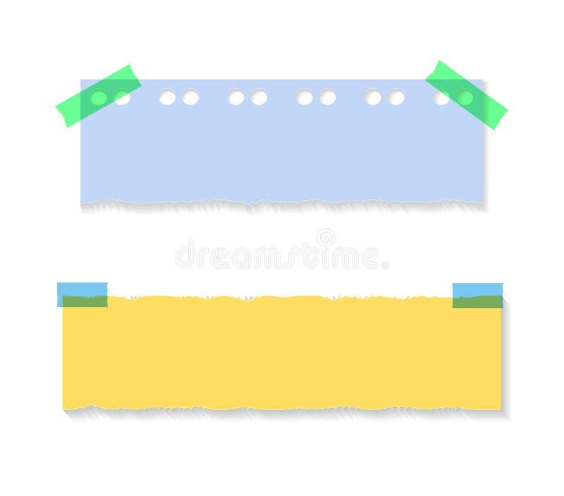 Vector Gekleurd Document, Geïsoleerde Illustraties vector illustratie