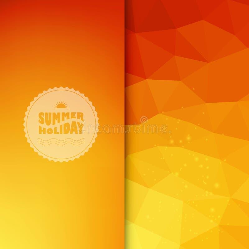 Vector gekleurde achtergrond met de zomertekst vector illustratie