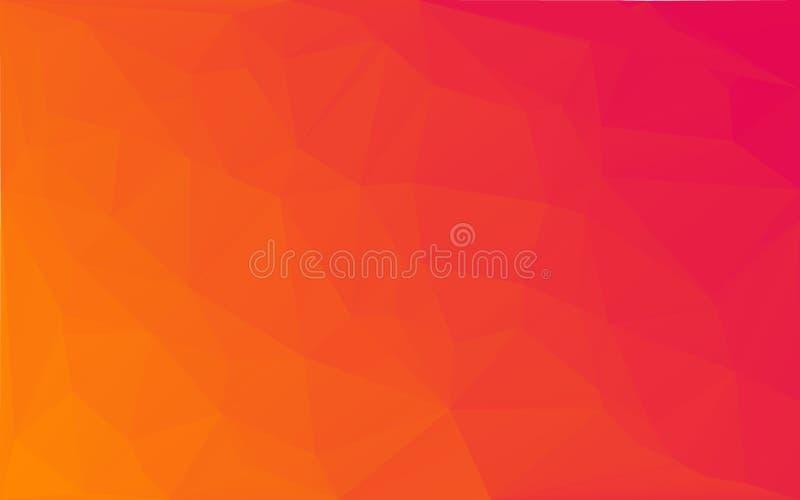 Vector gele roze achtergrond van het veelhoek de Abstracte mozaïek royalty-vrije illustratie