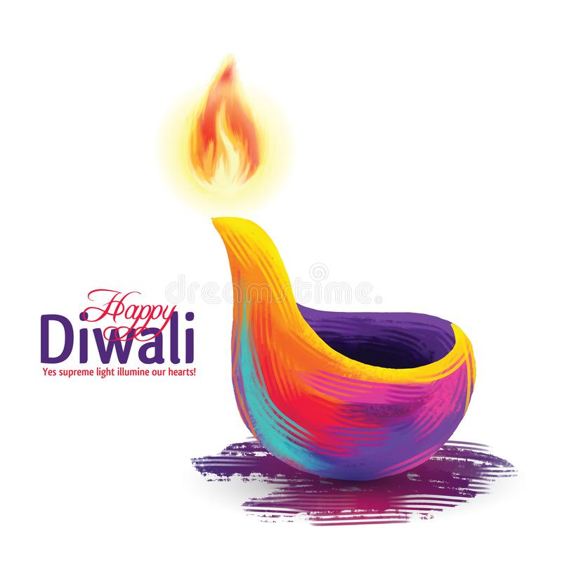 Vector gelukkige diwali stock afbeelding
