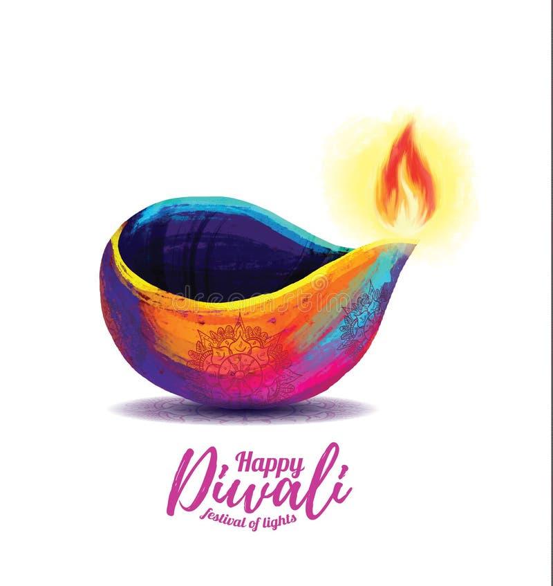 Vector gelukkige diwali stock afbeeldingen