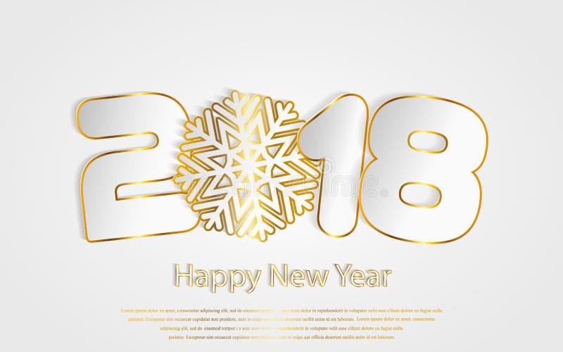 Vector Gelukkige Nieuwjaar 2017 achtergrond met document knipsels royalty-vrije illustratie