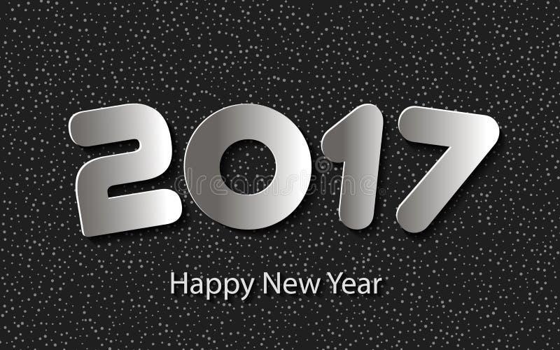 Vector Gelukkige Nieuwjaar 2017 achtergrond met document knipsels vector illustratie
