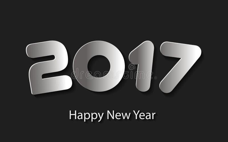 Vector Gelukkige Nieuwjaar 2017 achtergrond met document knipsels stock illustratie