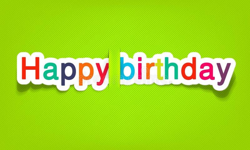 Vector gelukkige verjaardag stock fotografie