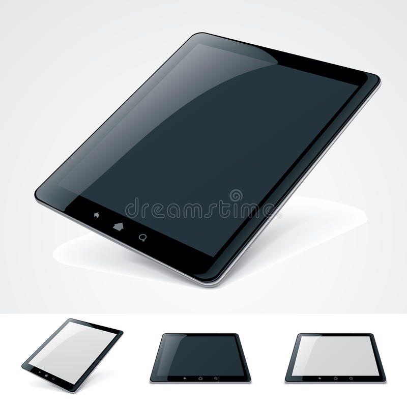 Vector generic tablet pc royalty free illustration