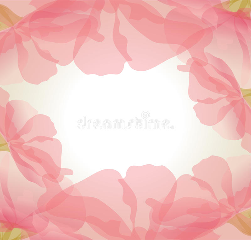 Vector gentle background of pink flower petals royalty free illustration