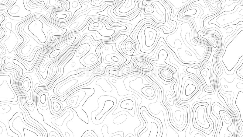 Topography map background. Vector geographic contour map. Vector geographic and topography contour map background stock illustration