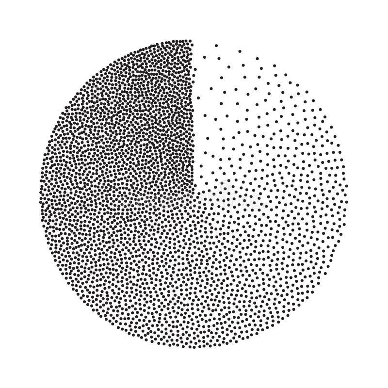 Vector geométrico abstracto de la forma Grano de la película, ruido, textura del Grunge Fondo de semitono Grabado de Dotwork del  ilustración del vector