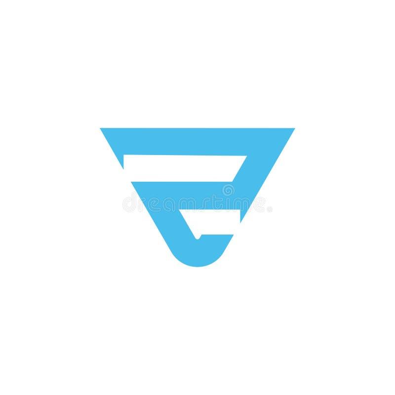 Vector geométrico del logotipo del triángulo de la letra r ilustración del vector