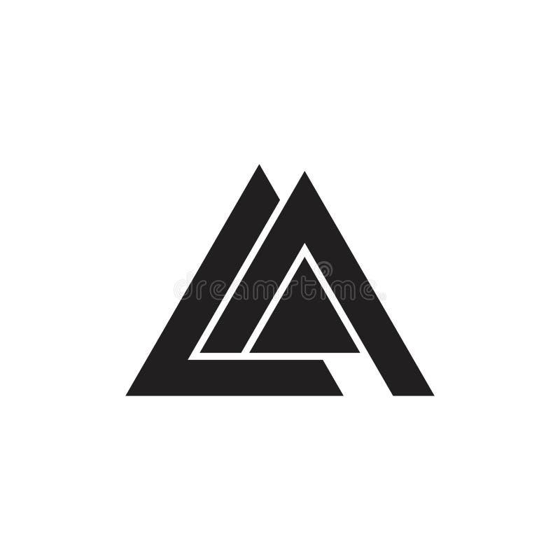 Vector geométrico del logotipo del triángulo del la de la letra ilustración del vector