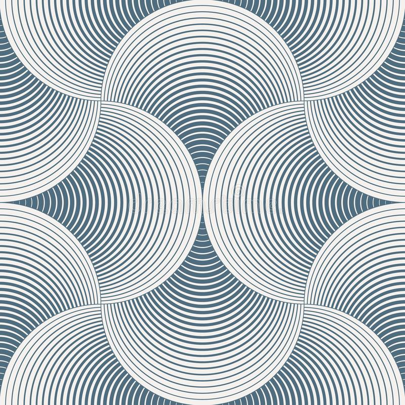 Vector geométrico del modelo Impresión simple geométrica de la tela de la moda Vector que repite textura de la teja Círculos tras libre illustration