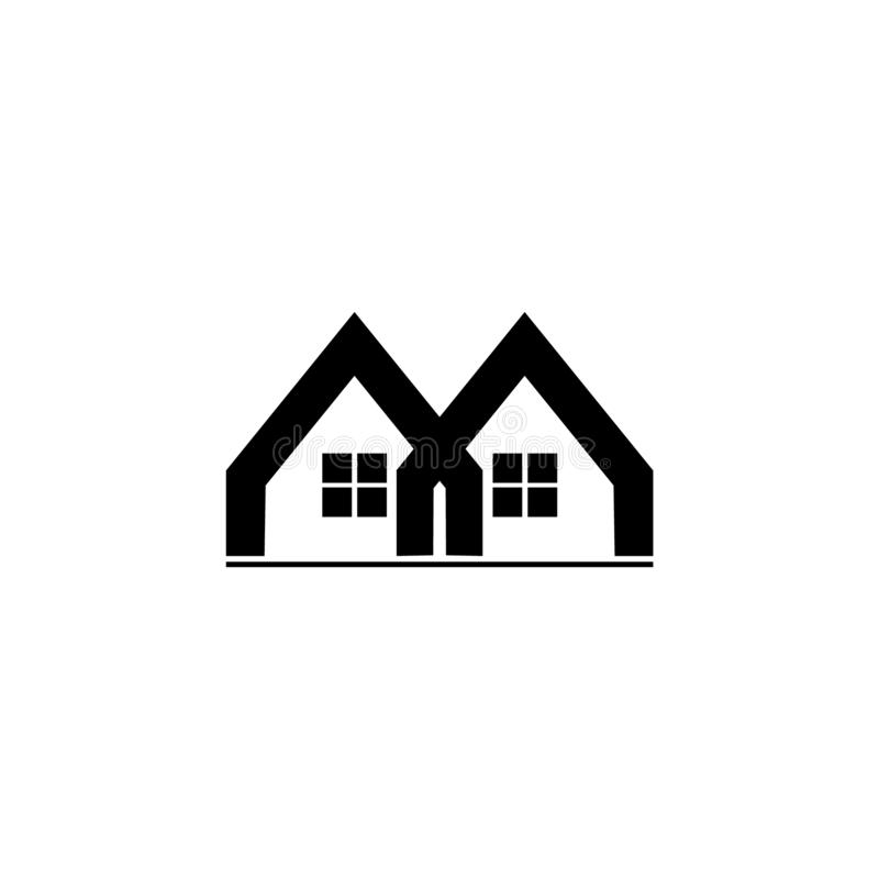 Vector geométrico ligado del logotipo de la casa libre illustration