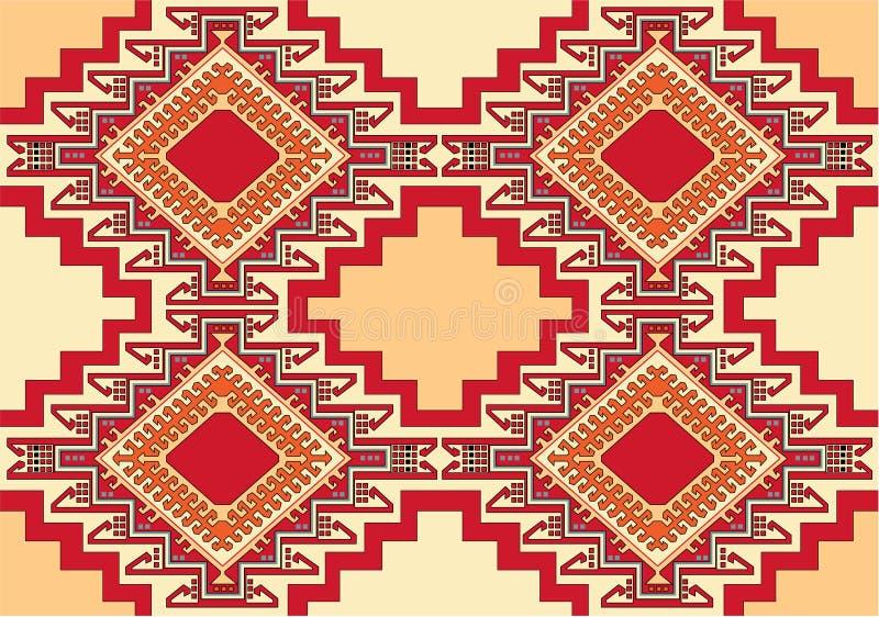 Vector geométrico oriental de la alfombra stock de ilustración