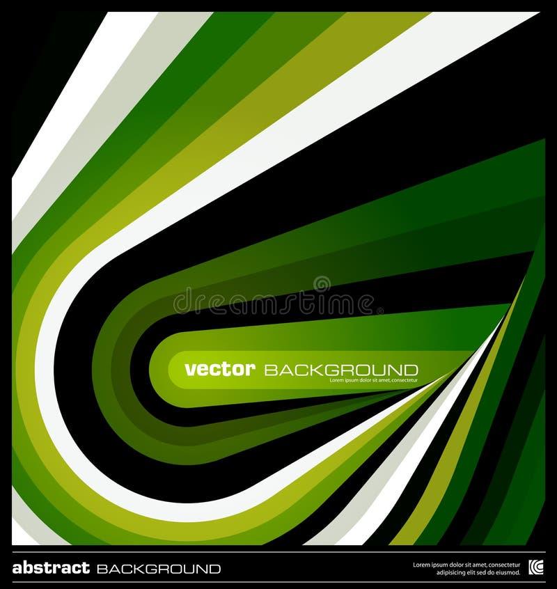 Vector geométrico verde abstracto del fondo stock de ilustración