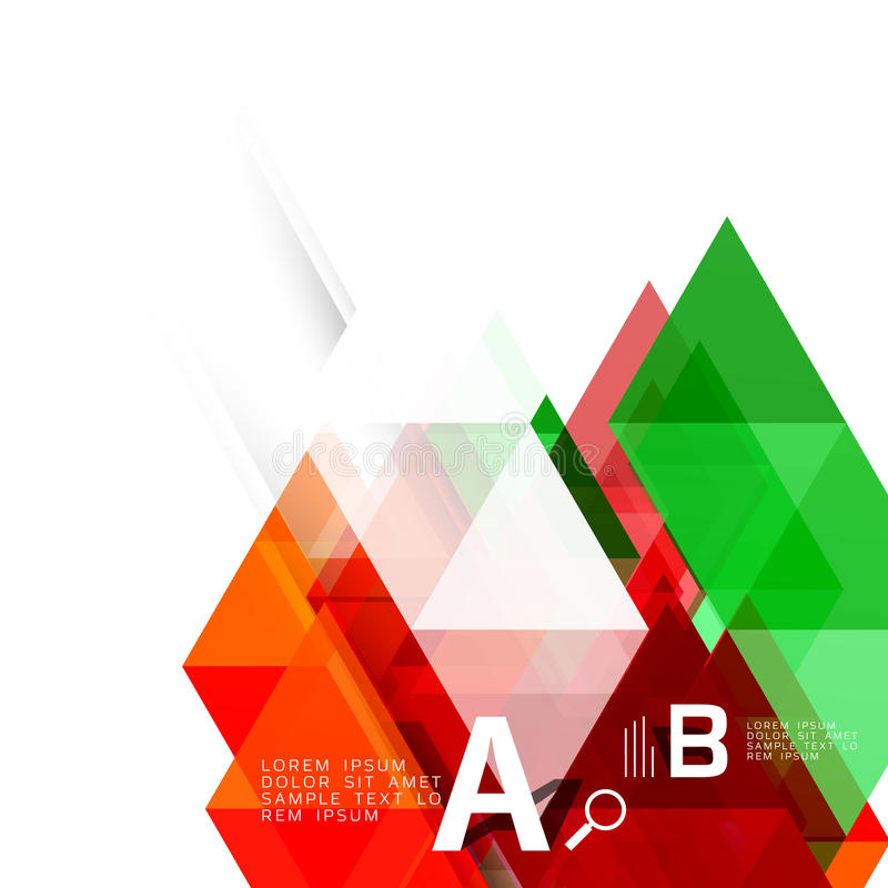 Vector geometric abstract background. With option infographic vector illustration