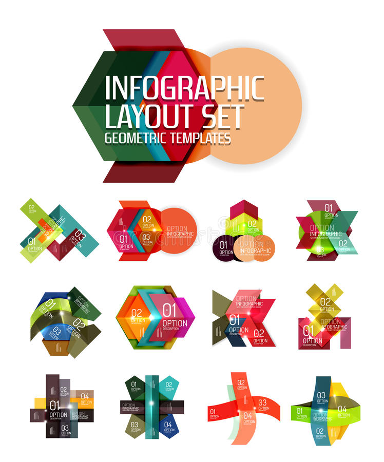 Vector geometric abstract background template for infographics. Vector geometric abstract infographic background template for workflow layout, diagram, number vector illustration