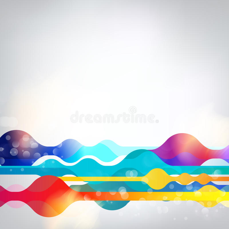 Vector geometric abstract rainbow multicolored vibrant background. EPS 10 stock illustration