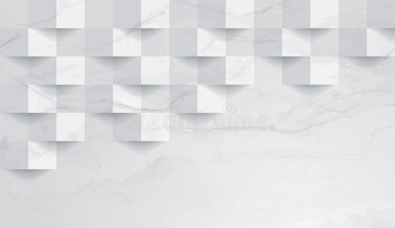 White marble texture background vector. stock illustration