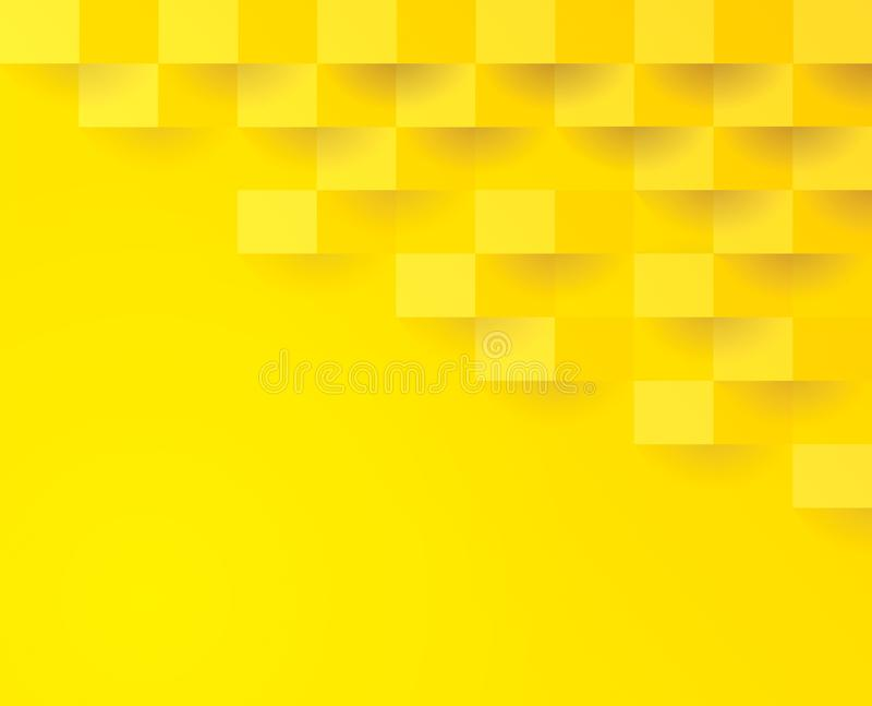 Yellow geometric pattern, abstract background template. vector illustration