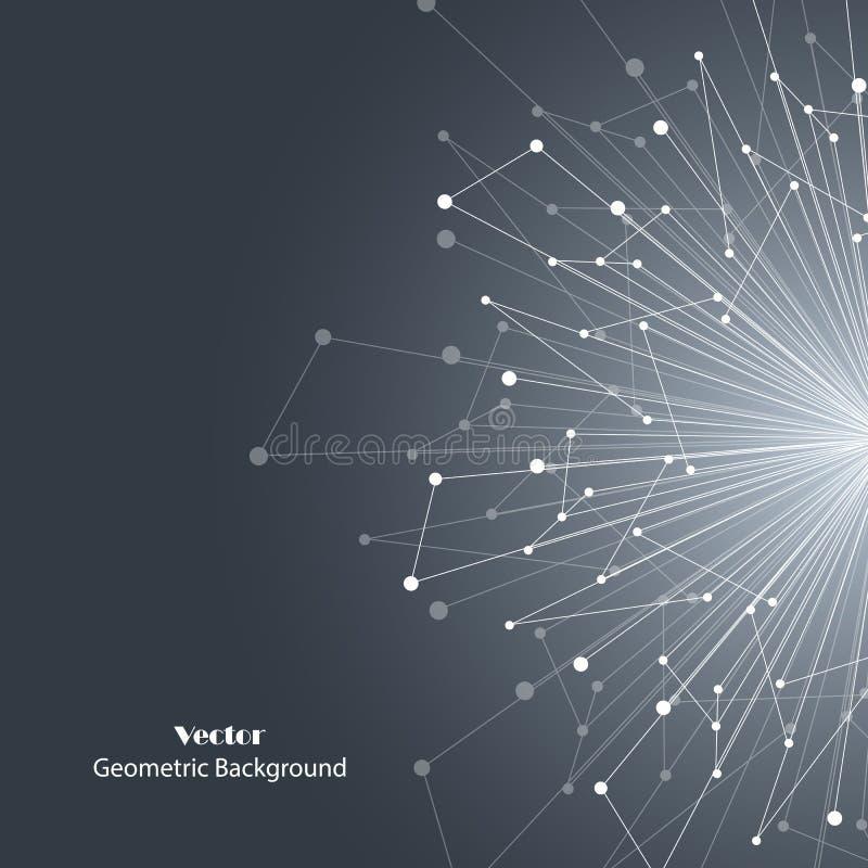 Vector geometric background stock illustration