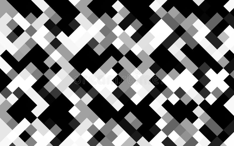 Vector geometric background of rhombuses and squares in grey scale vector illustration