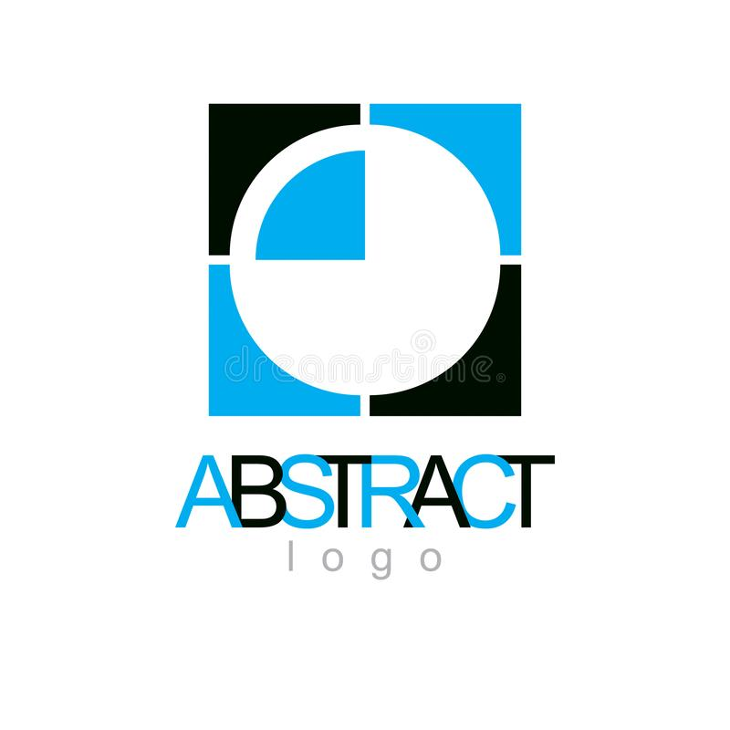Vector geometric conceptual shape can be used as successful business career abstract royalty free illustration