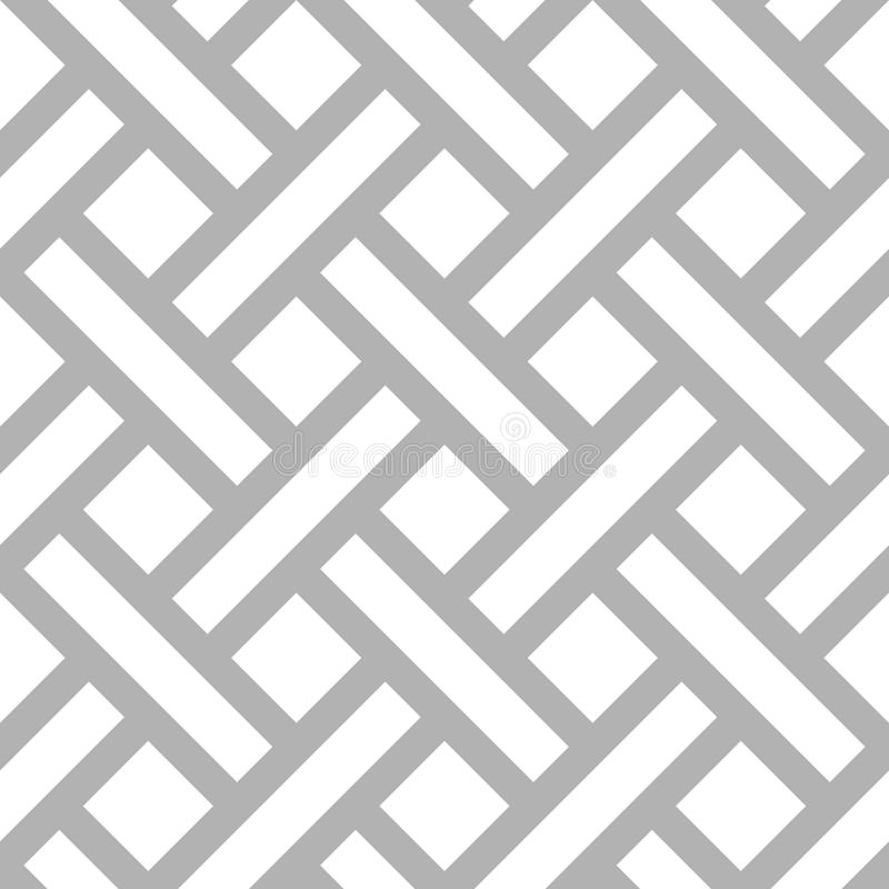 Vector geometric diagonal parquet pattern. Abstract seamless geometric monochrome diagonal pattern. Vector floor texture background royalty free illustration