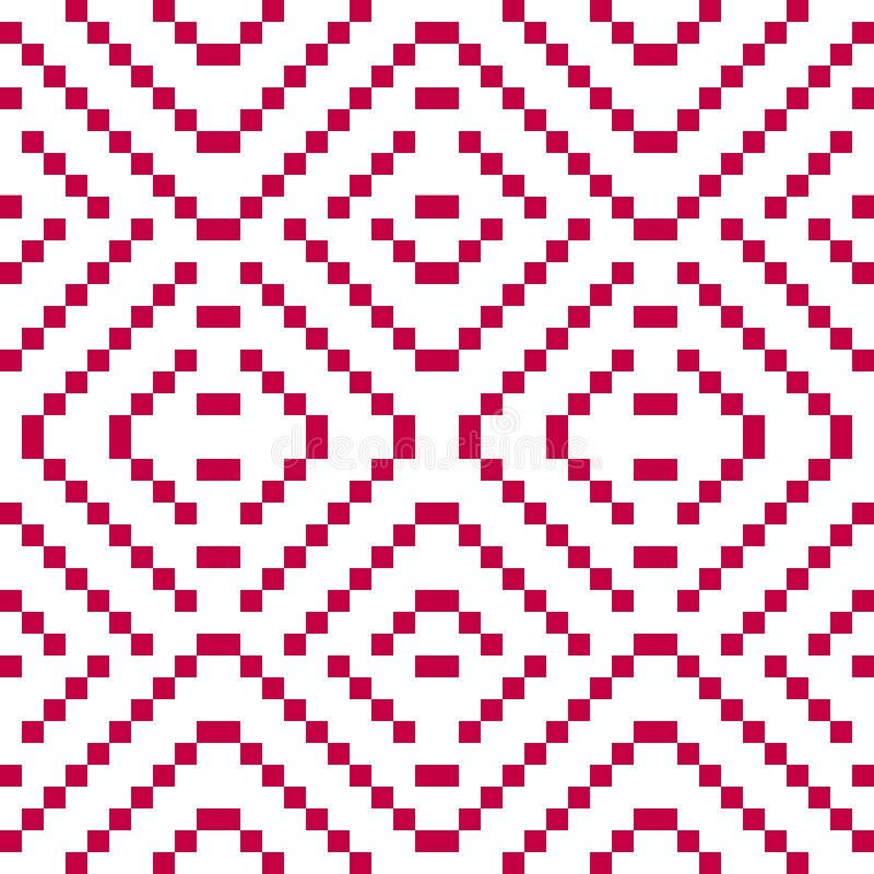 Vector geometric folk ornament. Slavic traditional ethnic seamless pattern stock illustration