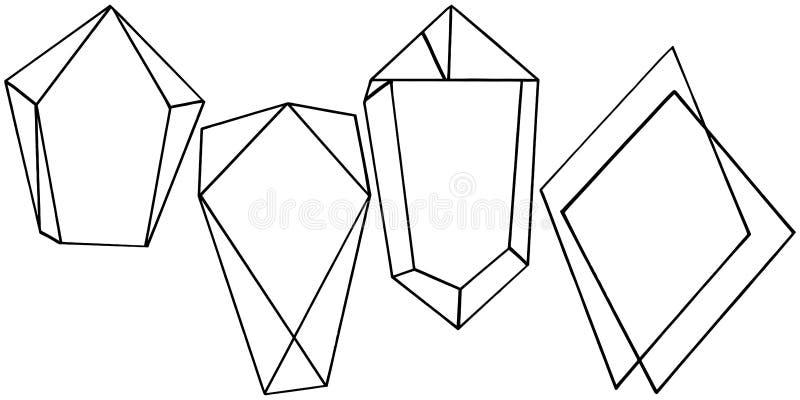Vector geometric form. Isolated illustration element. Mosaic shape. vector illustration