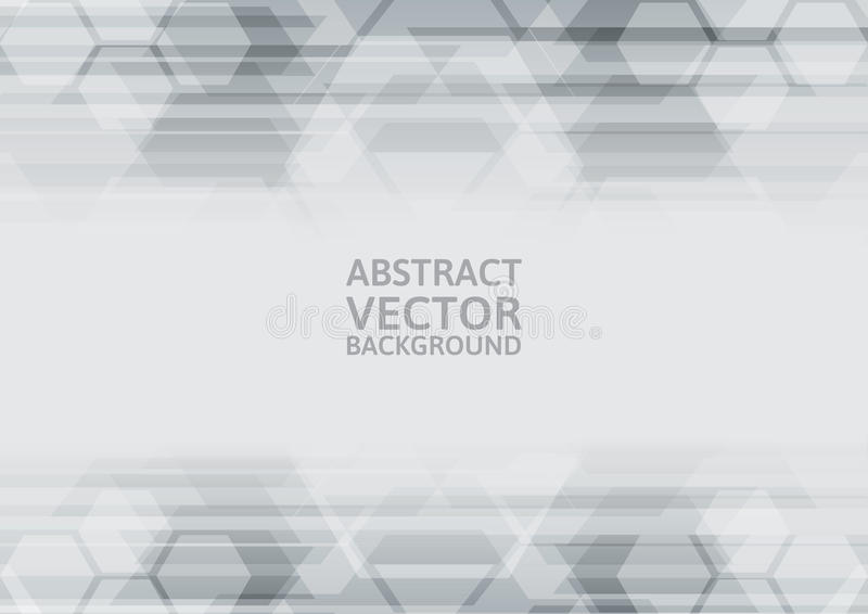 Vector geometric gray abstract background vector illustration