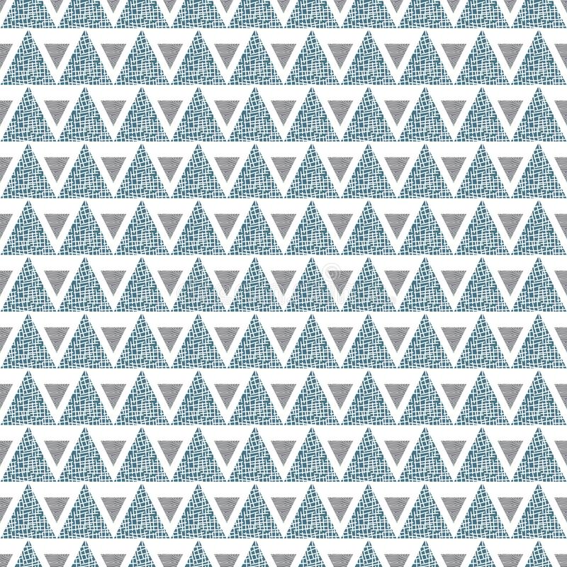 Vector Geometric Green Gray Triangles on White Background Seamless Repeat Pattern stock illustration