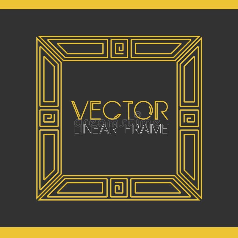 Vector Geometric Linear Style Frame - Art Deco Text ...