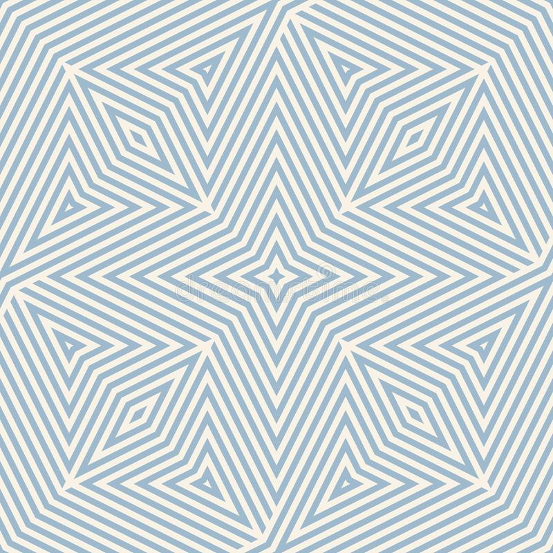 Vector geometric lines pattern. Creative retro blue and beige seamless ornament. Vector geometric lines pattern. Retro blue and beige seamless ornament. Stylish stock illustration