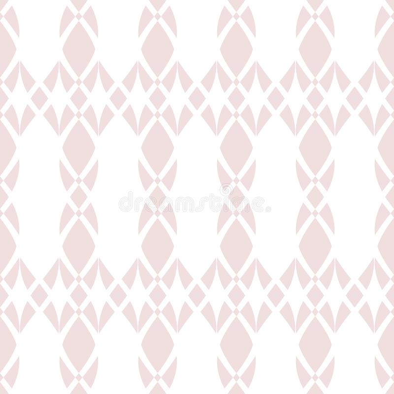 Vector geometric mesh seamless pattern. Subtle light pink and white texture vector illustration