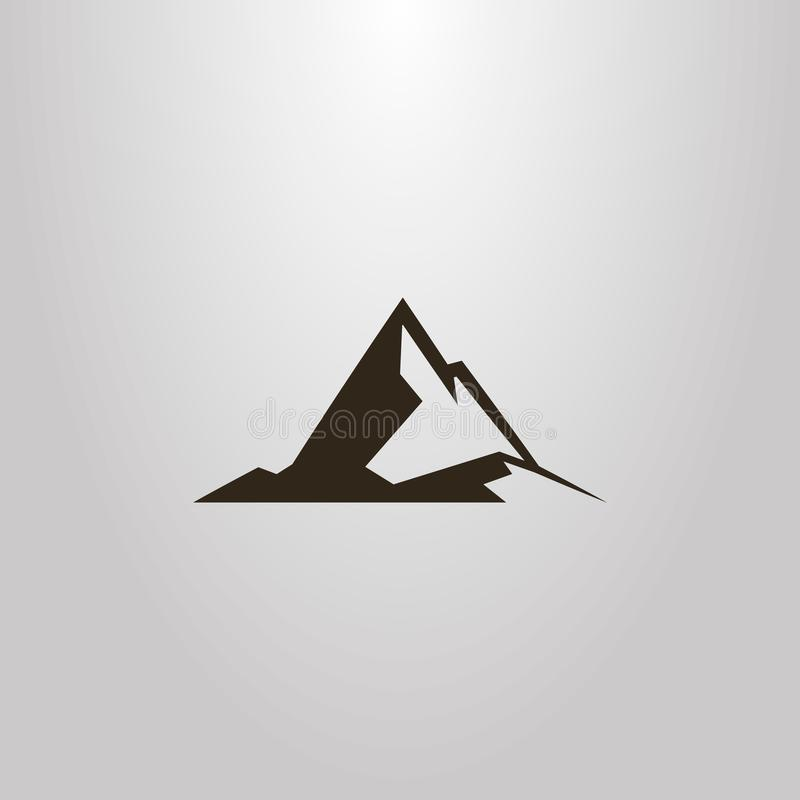 Free Vector Geometric Outline Sign Of High Peak Rocky Mountains Stock Photography - 133930132
