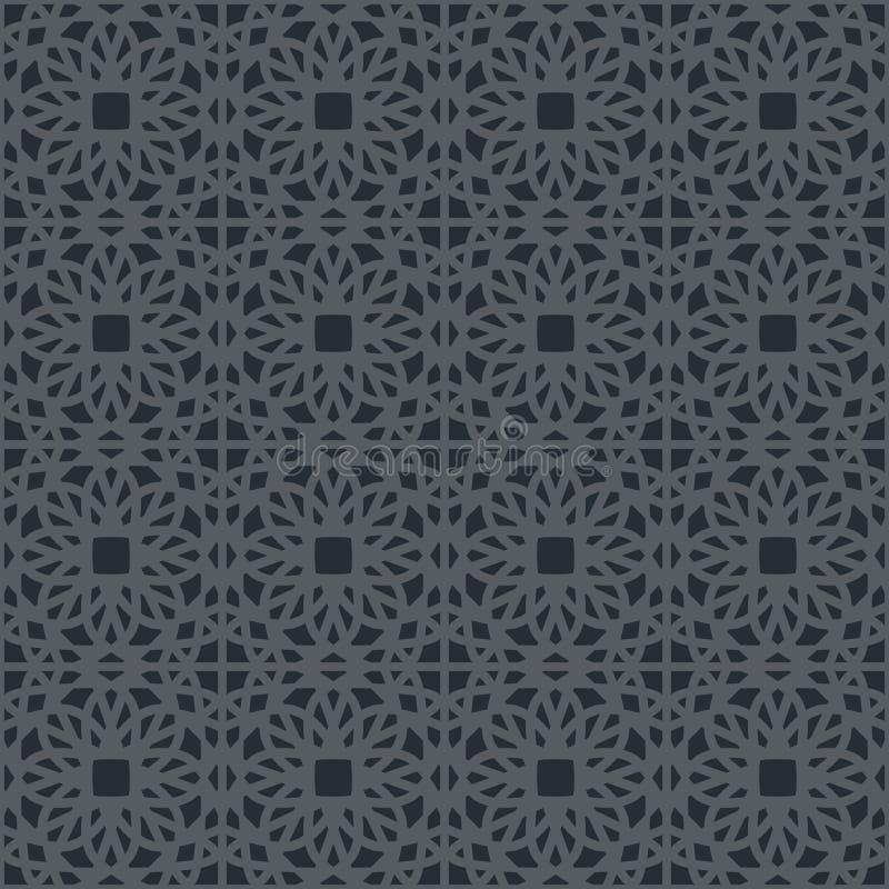 Vector Geometric Pattern. Black seamless texture with arabic geometric ornament. Vector pattern vector illustration