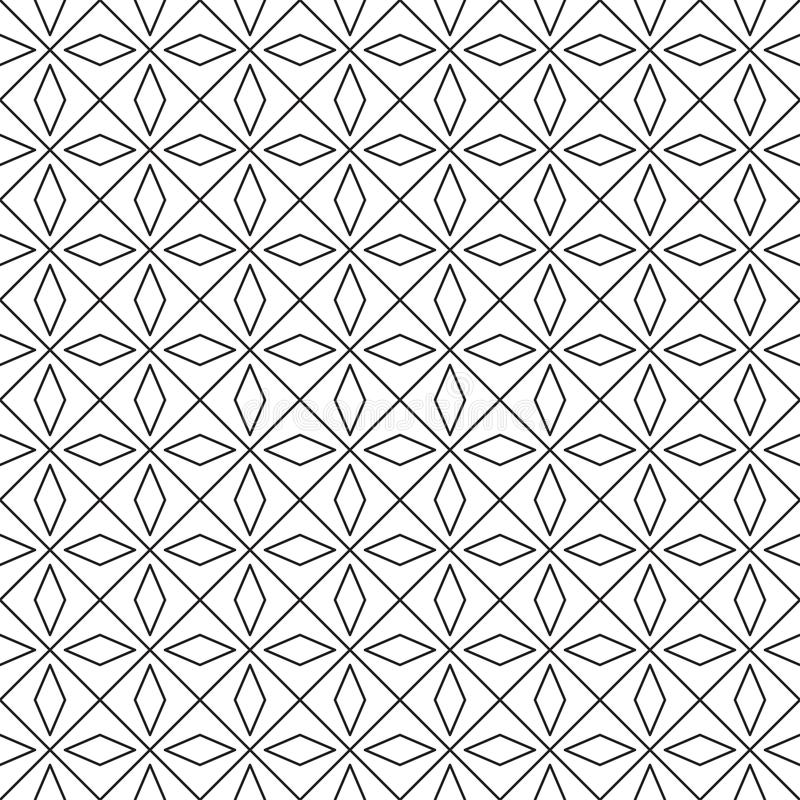 Vector geometric pattern from squares and rhombuses on a white background. royalty free illustration