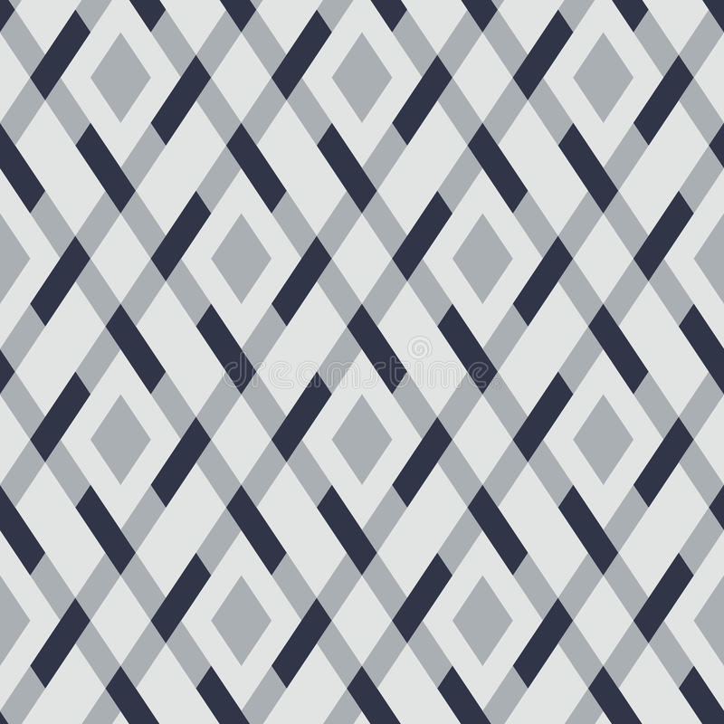 Vector geometric seamless argyle pattern royalty free illustration