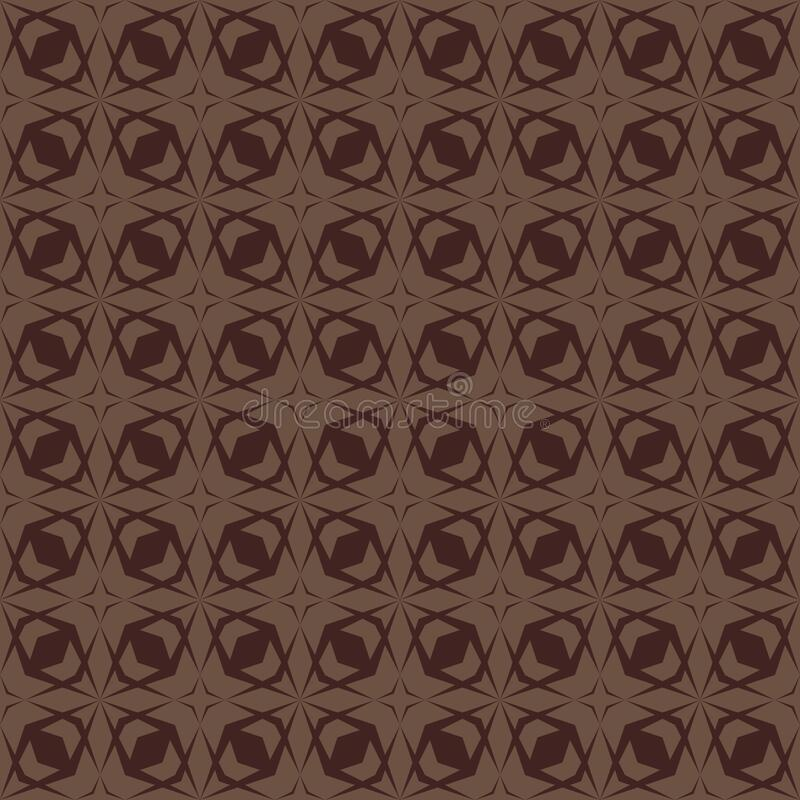 Vector geometric seamless pattern with diamond grid, lattice, net. Brown color. Geometric seamless pattern with diamond grid, net, lattice, mesh. Vector abstract vector illustration