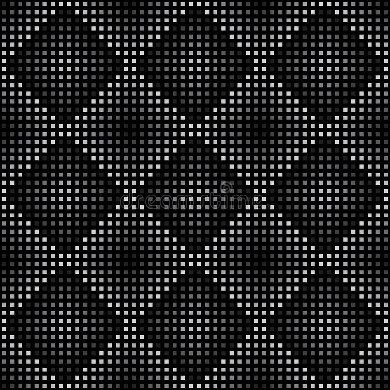 Vector geometric seamless pattern. Repeating abstract square gradation in black and grey. royalty free illustration