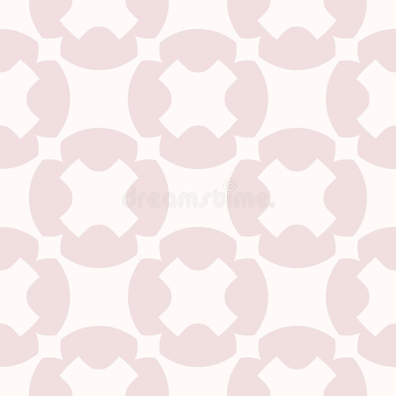 Vector geometric seamless pattern. Simple pink texture with big crosses, circles. Vector geometric seamless pattern. Simple abstract texture with big crosses royalty free illustration