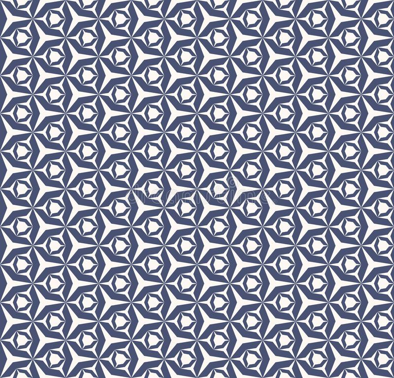 Vector geometric seamless pattern. White and navy blue texture with grid, net royalty free illustration