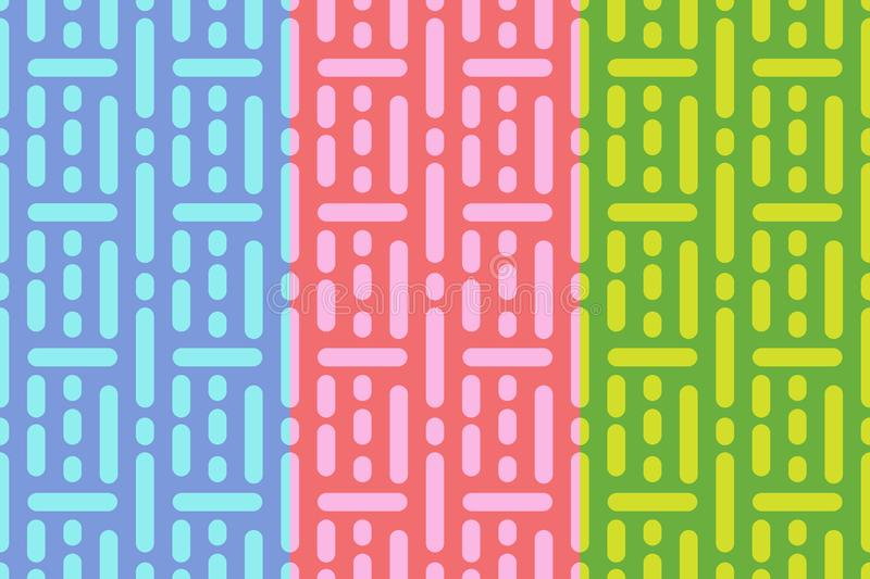 Vector geometric seamless pattern. Simple retro abstract ornament for textile, prints, wallpaper, wrapping paper, web etc. EPS royalty free illustration
