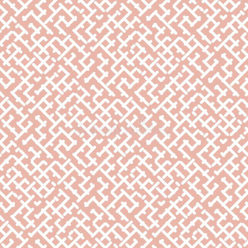 Free Vector Geometric Seamless Pattern. Soft Pink Texture With Diagonal Cross Lines Royalty Free Stock Image - 200097516