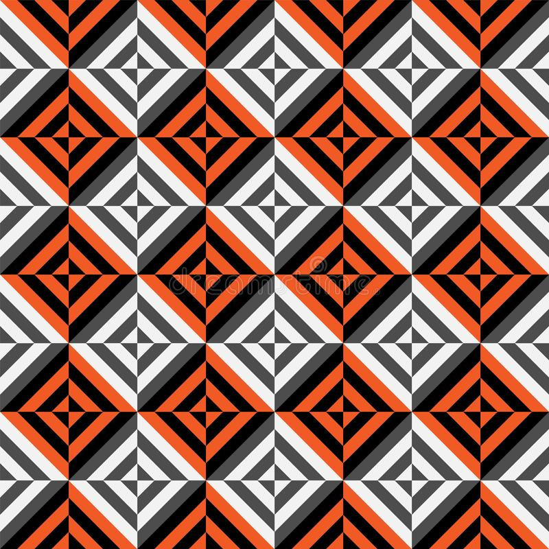 Vector geometric seamless pattern with stripes, lines, squares royalty free illustration
